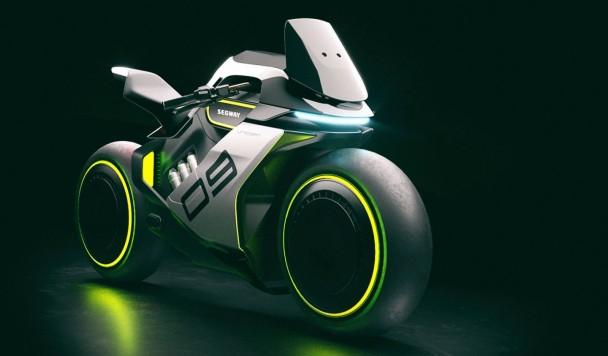Segway анонсировала футуристический мотоцикл на водороде