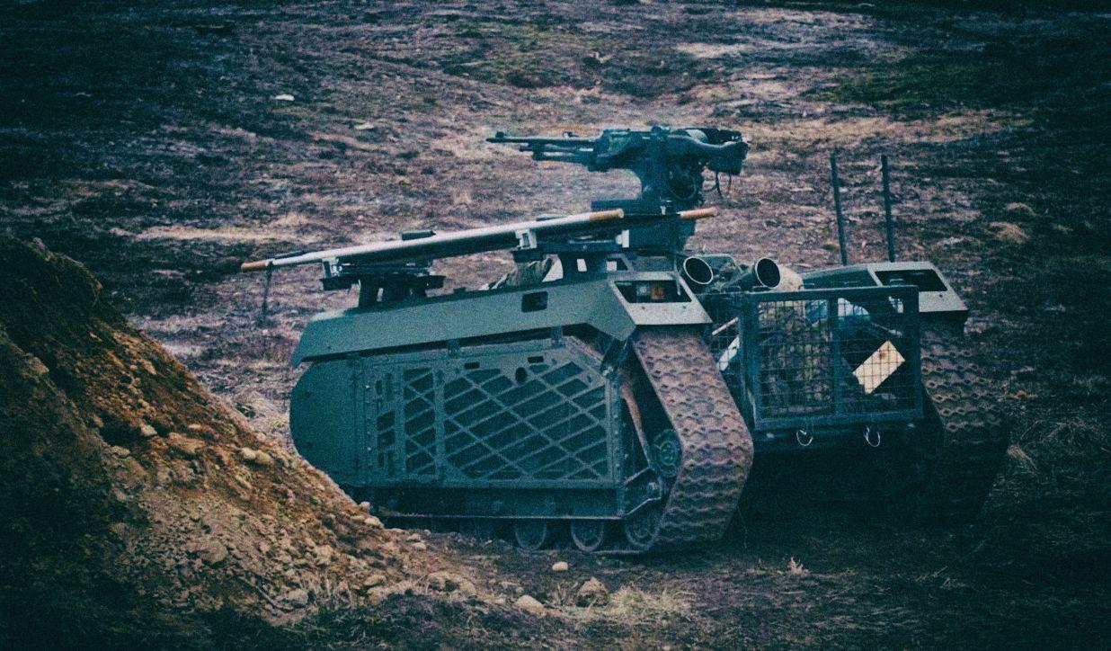 Эстония провела учебную операцию с участием боевых роботов