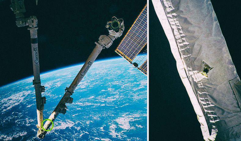 """""""Удачный удар"""": Космический мусор повредил Международную космическую станцию"""