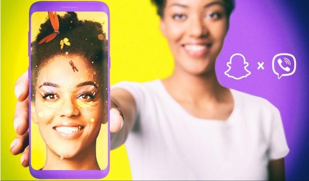 В Viber появятся фильтры и маски от создателей Snapchat