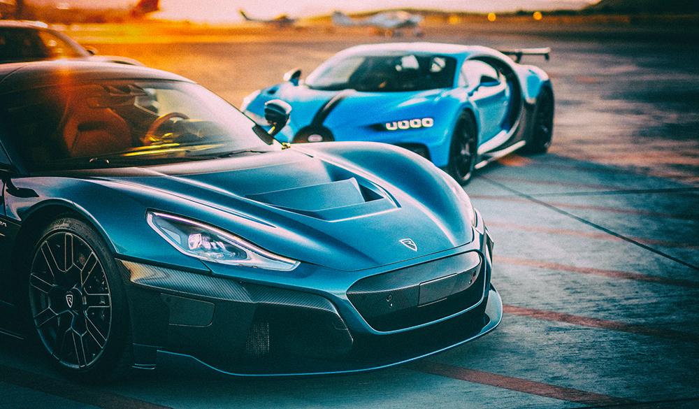 Bugatti объединяет усилия с производителем электрических суперкаров Rimac