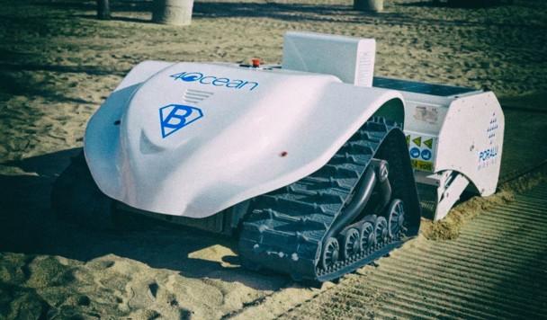 Разработан робот для уборки пляжей