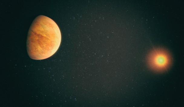 Океаническая планета около соседней звезды может быть обитаема