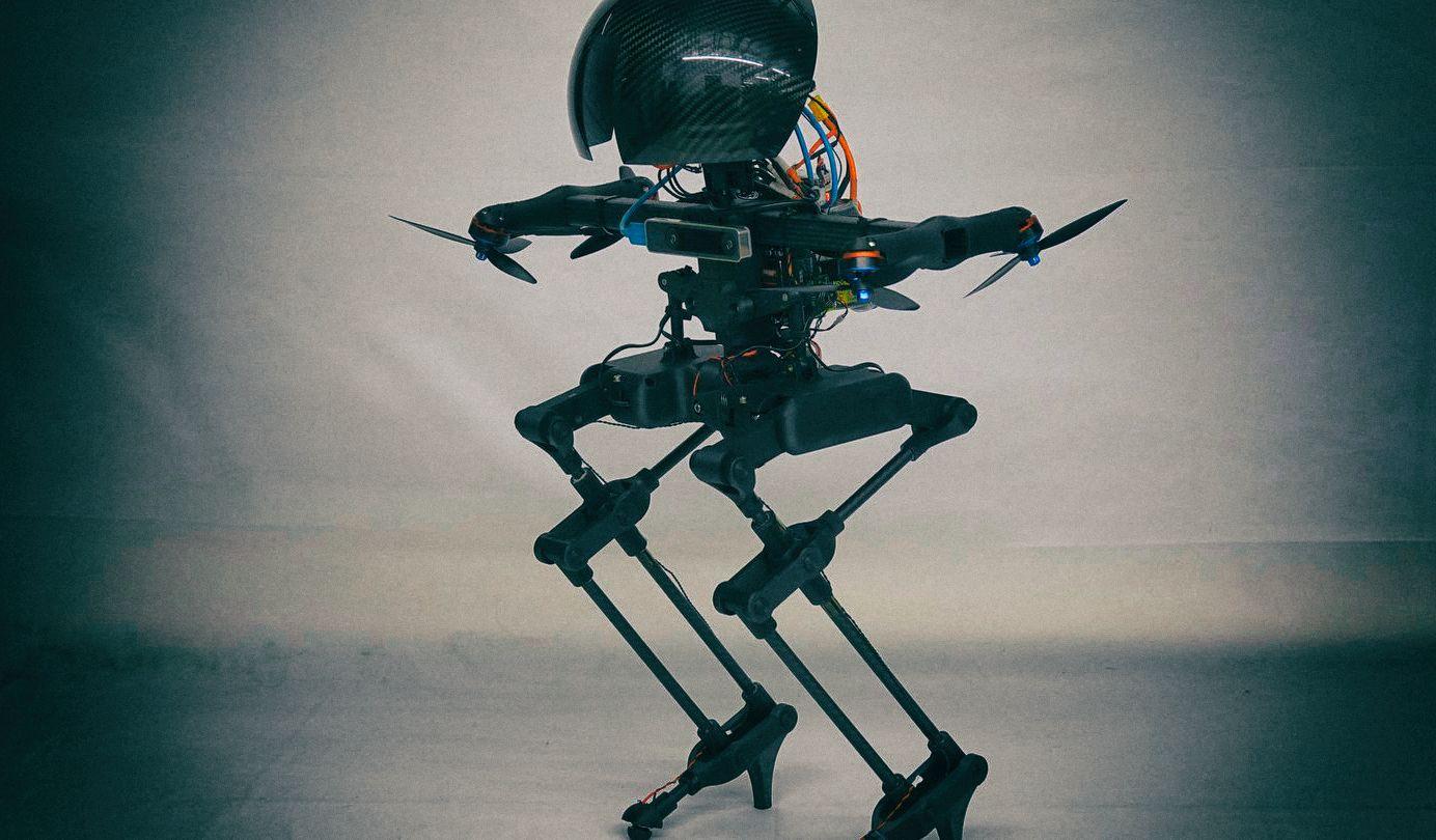 Создан двуногий робот, который умеет летать