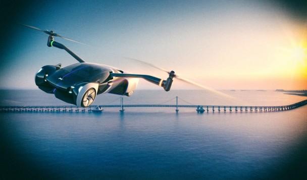 Представлен концепт удивительного летающего суперкара