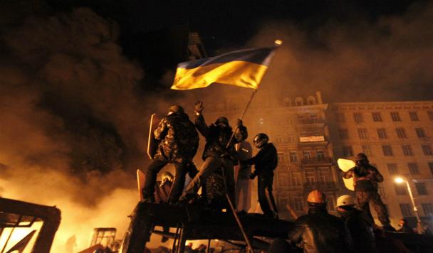 B Twitter появилась страница, которая день за днем воссоздает события Майдана