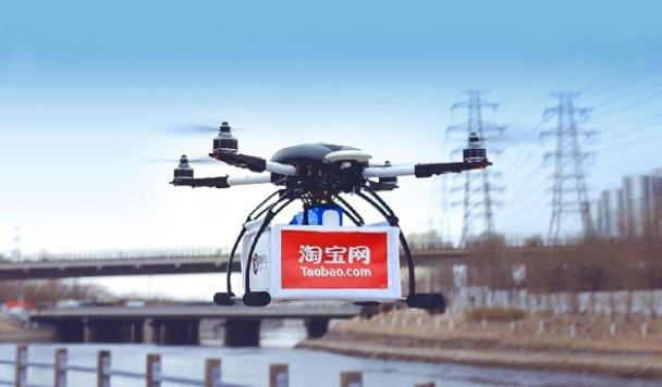 Alibaba тестирует доставку заказов с помощью дронов