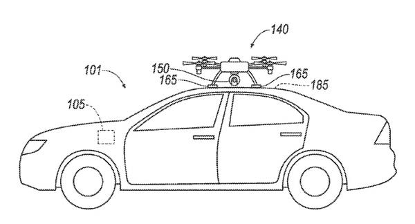 Ford предлагает использовать дрон-поводырь в помощь «ослепшим» робомобилям