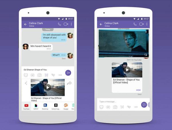 Viber позволит искать видео на YouTube, не покидая переписку
