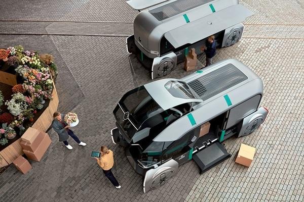 Renault показала футуристический беспилотник для доставки товаров по городу