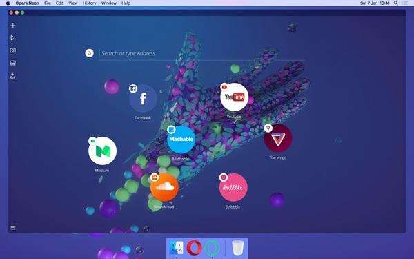 Opera запускает новый экспериментальный браузер Neon