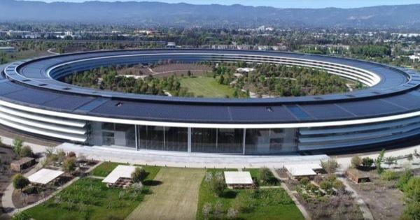 Очередная аэрофотосъемка Apple Park с дрона может стать последней (Видео)