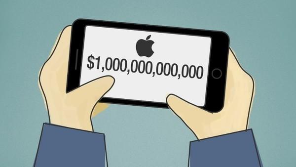 В 2018 году Apple может достичь стоимости в триллион долларов