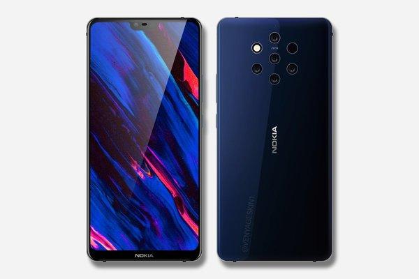 В сеть утекло фото необычного смартфона Nokia с пятью камерами