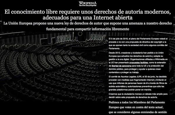 Wikipedia перестала работать в трех странах в знак протеста против закона об авторском праве