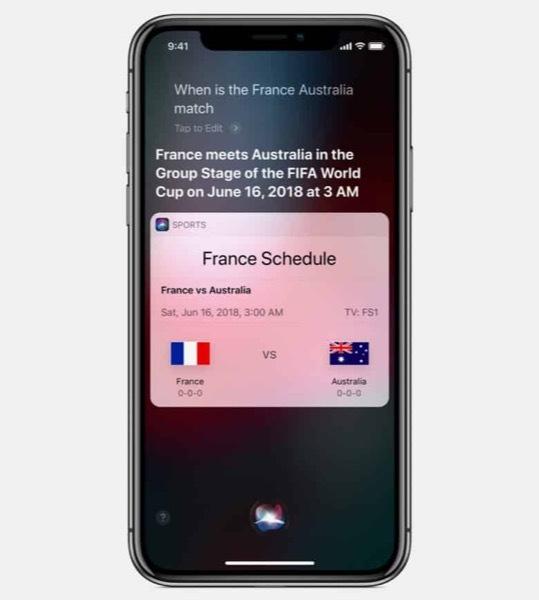 Siri подготовили к чемпионату мира по футболу