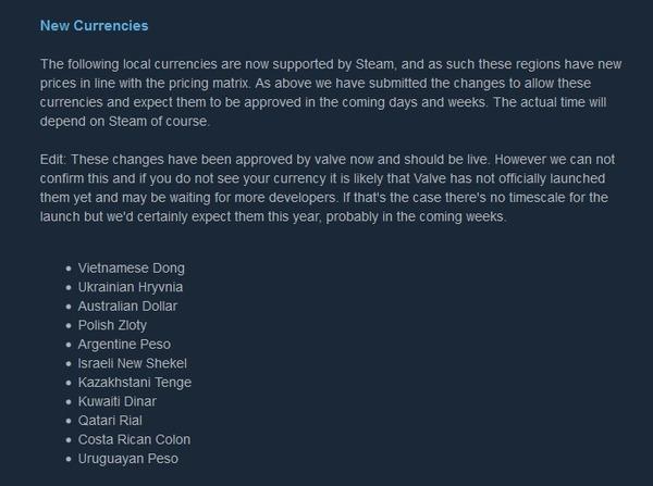 В Steam можно будет покупать за гривны