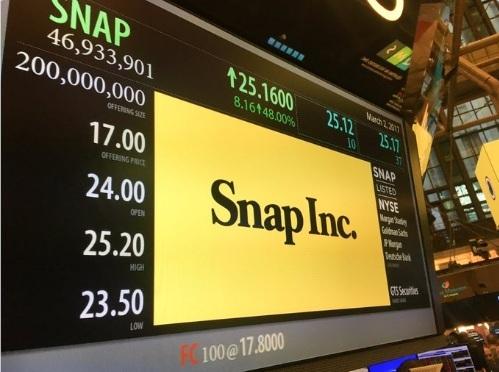 Разработчик мессенджера Snapchat оценен в $33 миллиарда