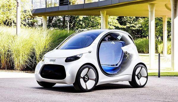 Smart представил концепт беспилотного электромобиля будущего