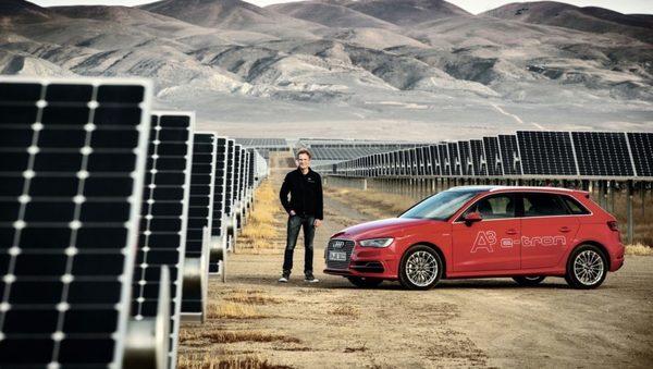 До конца 2017 Audi представит электромобиль с солнечным крышей
