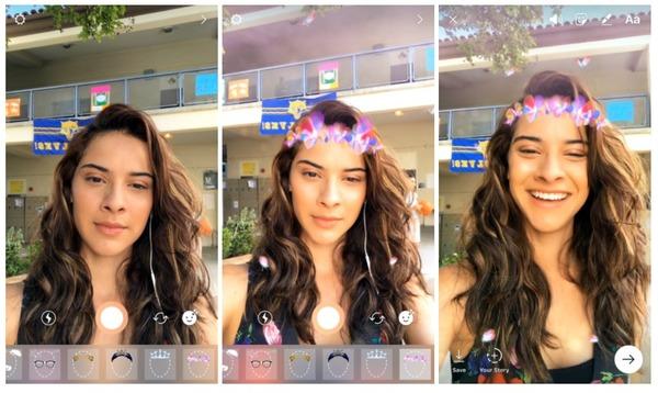 Instagram внедрил «маски» в Stories по аналогии со Snapchat