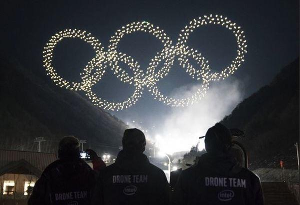 Intel и 1218 дронов поставили первый рекорд на зимней Олимпиаде в Корее (видео)