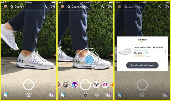 Snapchat добавил в приложение поиск товаров на Amazon с помощью камеры
