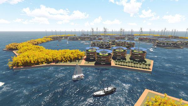 Первый плавучий город должен быть построен через 4 года