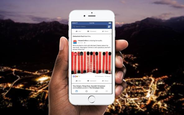 Facebook запустил тестирование сервиса аудиотрансляций