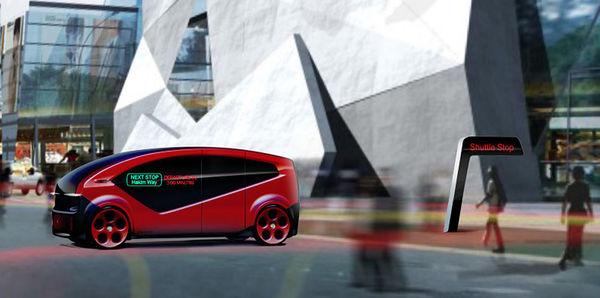 Конкурент Tesla представил беспилотный шаттл для «умных» городов