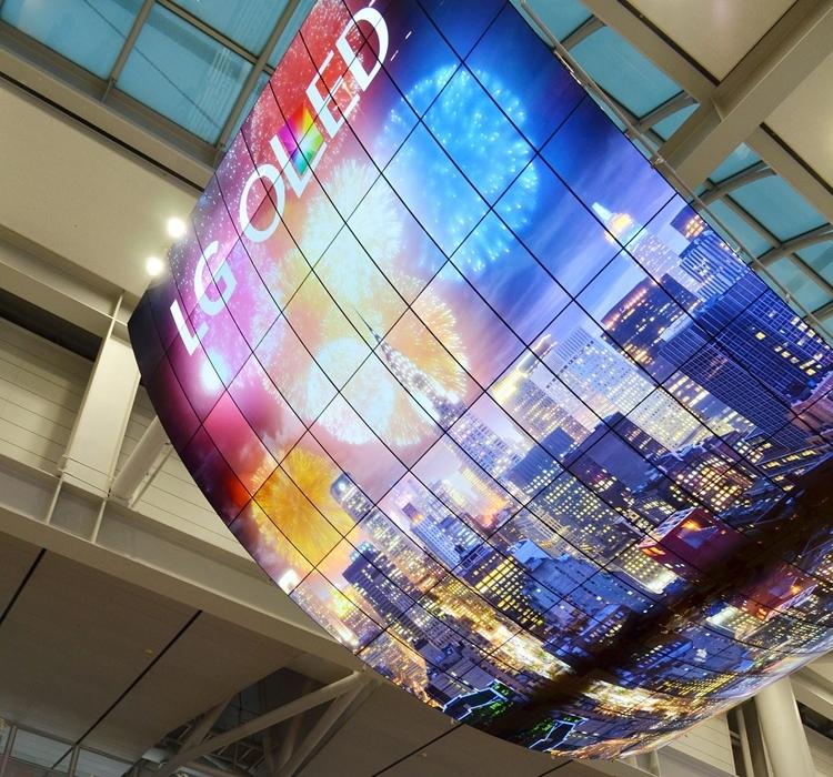 LG создал самый большой в мире OLED-экран (ФОТО)
