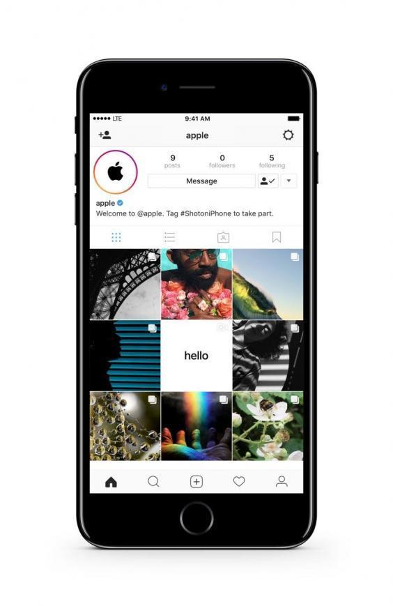 Apple зарегистрировала официальный аккаунт в Instagram для публикации отснятого на iPhone контента