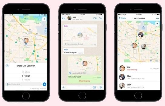 WhatsApp разрешит делиться геолокацией с собеседниками