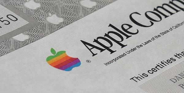 C 1980 года цена за акции Apple выросла на 50600%