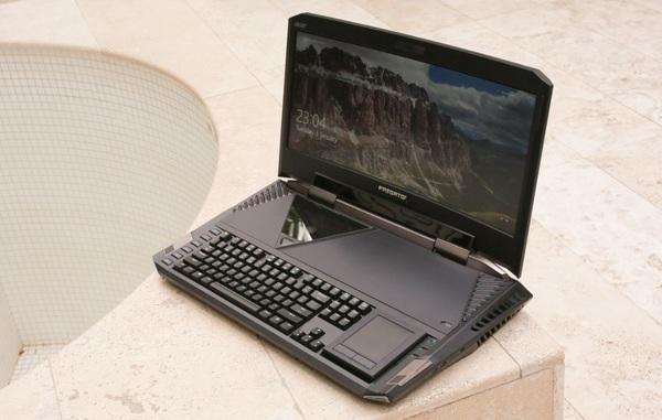 Acer представила сверхмощный игровой ноутбук с изогнутым дисплеем
