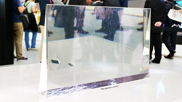 Компания Panasonic продемонстрировала прозрачный OLED-телевизор
