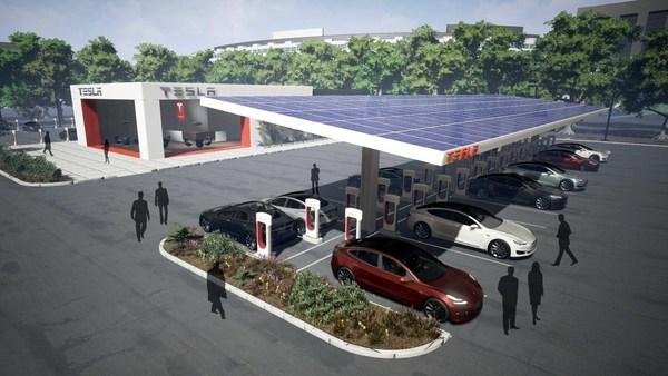 Илон Маск обещает перевести все зарядные станции Supercharger на питание от солнечных панелей
