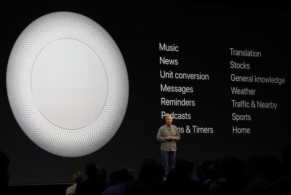 Apple анонсировала «умную» колонку HomePod