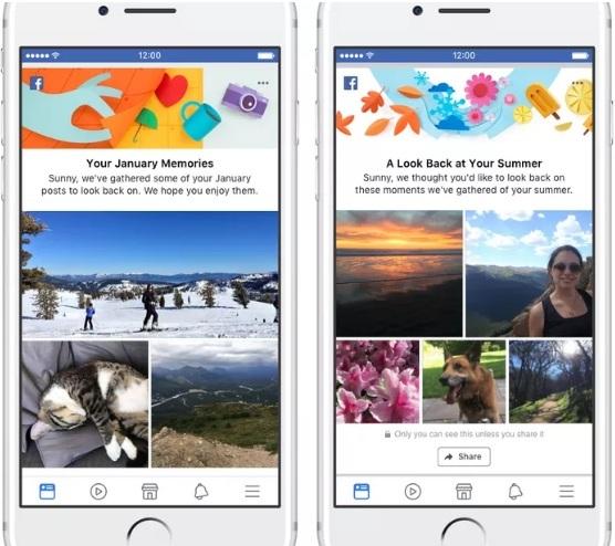 Facebook будет демонстрировать старые памятные посты за месяц или сезон
