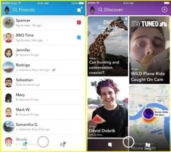 Snap представила новую версию Snapchat с разделением лент друзей и издателей
