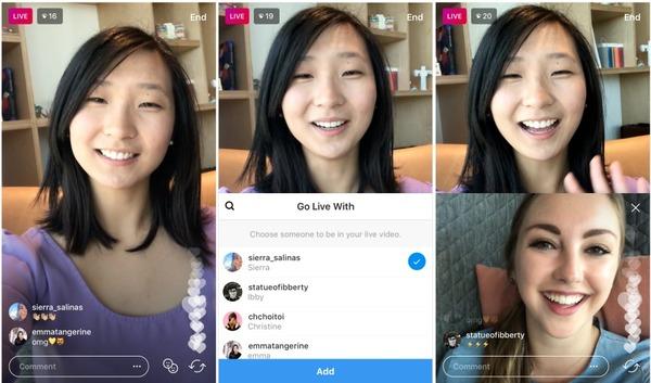 Instagram запустил тестирование совместных прямых трансляций