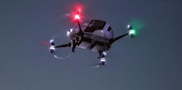 В Дубае появятся летающие беспилотные такси-дроны