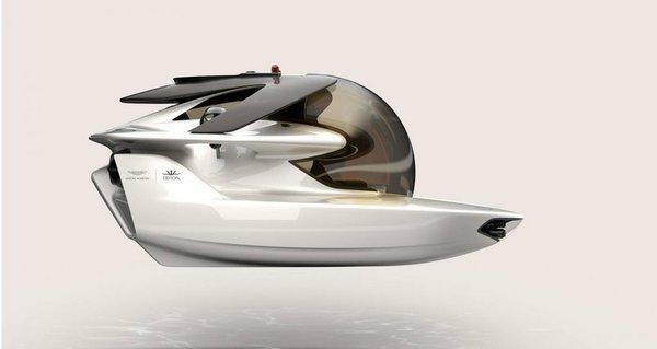 Aston Martin представила электрическую подводную лодку
