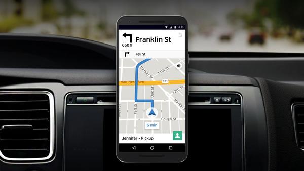 Uber продвигает среди водителей собственный навигационный сервис
