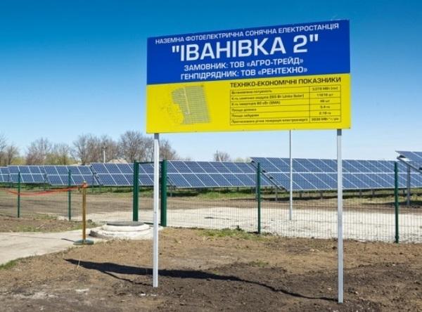 В Кировоградской области запустили новый солнечный парк