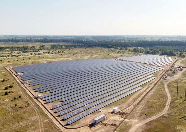 В Киевской области начала работу новая солнечная электростанция
