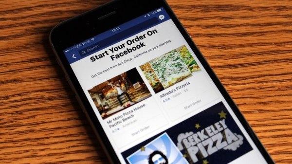 Facebook запустила тестирование раздела для заказа еды из ресторанов
