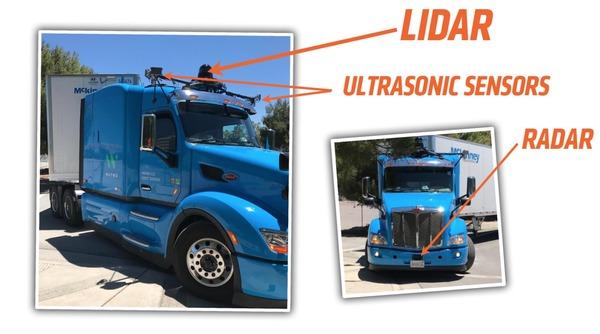 В Сети появились первые фото самоуправляемых грузовиков Alphabet