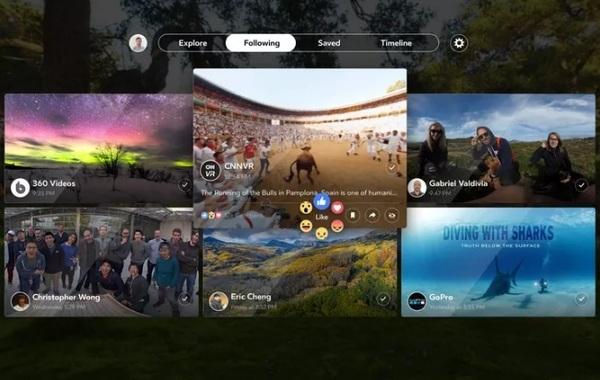 Facebook запускает VR-приложение для просмотра 360-градусного контента