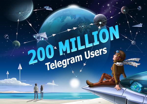 Telegram достиг отметки в 200 млн активных пользователей в месяц